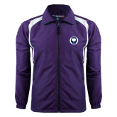 Colorblock Purple/White Wind Jacket-Marching Storm Cloud Circle