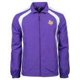 Colorblock Purple/White Wind Jacket-PVAM Texas