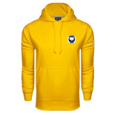Under Armour Gold Performance Sweats Team Hoodie-Marching Storm Cloud Circle