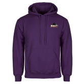 Purple Fleece Hood-Official Logo