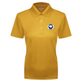 Ladies Gold Dry Mesh Polo-Marching Storm Cloud Circle