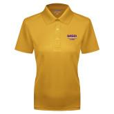 Ladies Gold Dry Mesh Polo-MSD Alumni