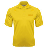 Gold Textured Saddle Shoulder Polo-PVAMU