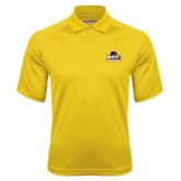 Gold Textured Saddle Shoulder Polo-Athletic Directors Club