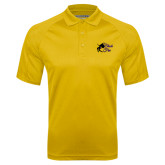 Gold Textured Saddle Shoulder Polo-Black Fox Logo