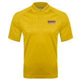 Gold Textured Saddle Shoulder Polo-MSD