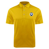 Gold Dry Mesh Polo-Marching Storm Cloud Circle