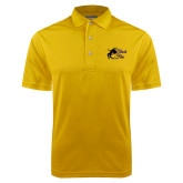 Gold Dry Mesh Polo-Black Fox Logo