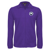 Fleece Full Zip Purple Jacket-Marching Storm Cloud Circle