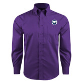 Red House Purple Long Sleeve Shirt-Marching Storm Cloud Circle