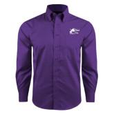 Red House Purple Long Sleeve Shirt-Black Fox Logo