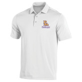 Under Armour White Performance Polo-PVAM Stacked