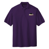 Purple Easycare Pique Polo-Official Logo