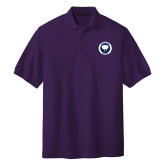 Purple Easycare Pique Polo-Marching Storm Cloud Circle