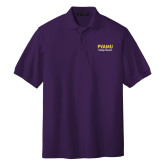 Purple Easycare Pique Polo-PVAMU Twirling Thunder Script
