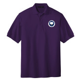 Purple Easycare Pique Polo-Marching Storm Cloud Circle - Fan