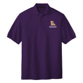 Purple Easycare Pique Polo-PVAM Stacked