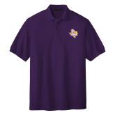 Purple Easycare Pique Polo-PVAM Texas