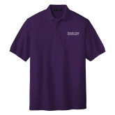Purple Easycare Pique Polo-Word Mark Stacked