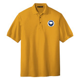 Gold Easycare Pique Polo-Marching Storm Cloud Circle