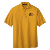 Gold Easycare Pique Polo-Black Fox Logo