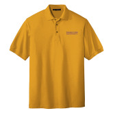 Gold Easycare Pique Polo-Word Mark Stacked