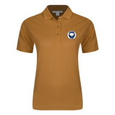 Ladies Easycare Gold Pique Polo-Marching Storm Cloud Circle