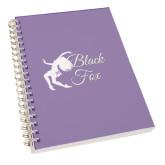 Clear 7 x 10 Spiral Journal Notebook-Black Fox Logo