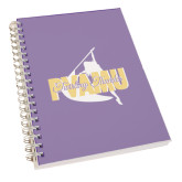 Clear 7 x 10 Spiral Journal Notebook-PVAMU Twirling Thunder Logo