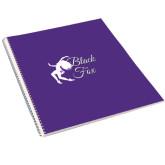 College Spiral Notebook w/Clear Coil-Black Fox Logo