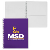 College Spiral Notebook w/Clear Coil-MSD w/ PVAM Logo