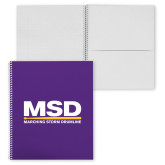 College Spiral Notebook w/Clear Coil-MSD