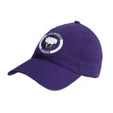 Purple Twill Unstructured Low Profile Hat-Marching Storm Cloud Circle