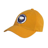 Gold Twill Unstructured Low Profile Hat-Marching Storm Cloud Circle