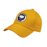 Gold Heavyweight Twill Pro Style Hat-Marching Storm Cloud Circle