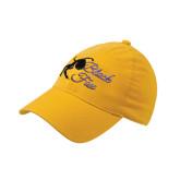 Gold Flexfit Mid Profile Hat-Black Fox Logo
