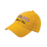Gold OttoFlex Unstructured Low Profile Hat-PVAMU Black Fox Script