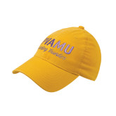 Gold OttoFlex Unstructured Low Profile Hat-PVAMU Twirling Thunder Script