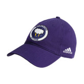 Adidas Purple Slouch Unstructured Low Profile Hat-Marching Storm Cloud Circle