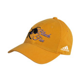 Adidas Gold Slouch Unstructured Low Profile Hat-Black Fox Logo