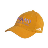 Adidas Gold Slouch Unstructured Low Profile Hat-PVAMU Twirling Thunder Script