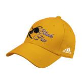 Adidas Gold Structured Adjustable Hat-Black Fox Logo