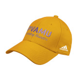 Adidas Gold Structured Adjustable Hat-PVAMU Twirling Thunder Script