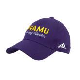 Adidas Purple Structured Adjustable Hat-PVAMU Twirling Thunder Script