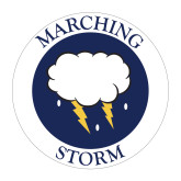 Medium Magnet-Marching Storm Cloud Circle, 8 inches wide