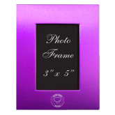 Purple Brushed Aluminum 3 x 5 Photo Frame-Marching Storm Cloud Circle Engraved