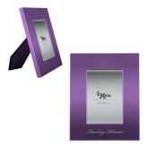 Purple Brushed Aluminum 3 x 5 Photo Frame-PVAMU Twirling Thunder Logo Engraved