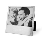 Silver 5 x 7 Photo Frame-Word Mark Stacked  Engraved