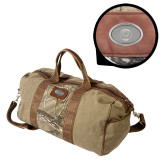 Canyon Realtree Camo Canvas Duffel-Marching Storm Cloud Circle Engraved