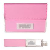Business Card Case and Key Ring Set Pink-PVAMU Engraved